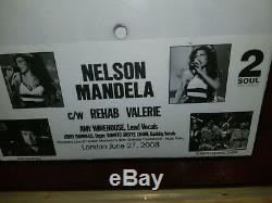 1/250 Ltd Ed AMY WINEHOUSE Signed 7 Vinyl EP A side Nelson Mandela B side Rehab