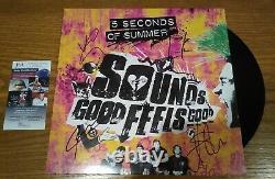 5 SECONDS OF SUMMER SIGNED SOUNDS GOOD FEELS GOOD VINYL LP auto record 5SOS JSA