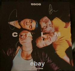 5SOS 5 Seconds Of Summer CALM Plus 1 Exclusive Pink Vinyl And Signed Lithograph