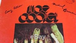 ALICE COOPER GROUP Signed Autograph Easy Action Album Vinyl Record LP by 4