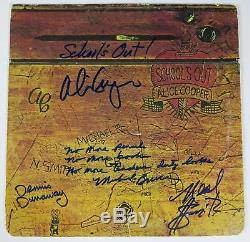 ALICE COOPER Signed Autograph School's Out Album Vinyl Record LP by All 4