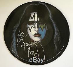 Ace Frehley signed Kiss Album picture disk 180 gram vinyl new beckett coa