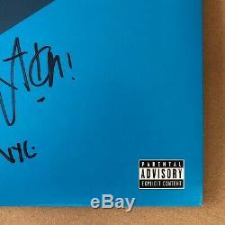 Action Bronson Signed Blue Chips 7000 Black Vinyl LP Record Autograph Rare Rap