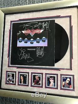 Aerosmith Complete Band Signed Rocks Vinyl Lp Record Album