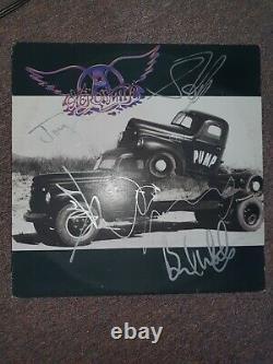 Aerosmith Pump Vinyl Record Autographed