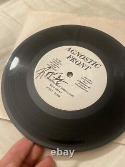 Agnostic Front United Blood 7 Signed by Roger Miret Vtg Vinyl
