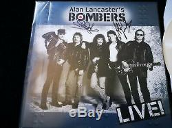 Alan Lancaster's Bombers Rare Status Quo signed white vinyl LP