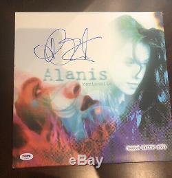 Alanis morissette Signed jagged little pill vinyl Autographed PSA Cert