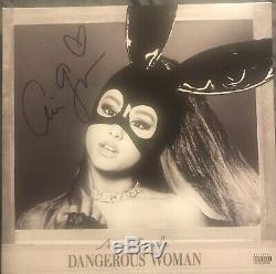 Ariana Grande SIGNED Autographed Lp Dangerous Woman Double Vinyl