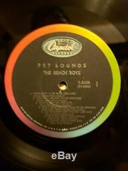 Autographed Beach Boys Pet Sounds Capitol T-2458 Mono Vinyl Record
