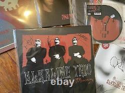 Autographed Signed Alkaline Trio Alk3 Matt Skiba Vinyl Nofx Blink 182 OOP Lot