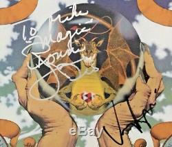 Autographed/Signed Dio Sacred Heart Vinyl Ronnie James Dio & Vinny Appice