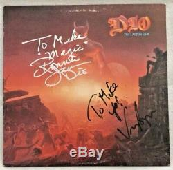 Autographed/Signed Dio The Last In Line Vinyl Ronnie James Dio & Vinny Appice
