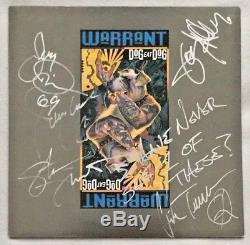 Autographed/Signed Warrant Dog Eat Dog Vinyl UK Import Jani Lane (R. I. P.)