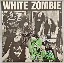 Autographed/Signed White Zombie God Of Thunder Vinyl EP Caroline Records