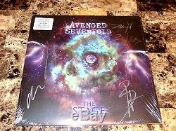 Avenged Sevenfold Rare Band Signed Vinyl LP Record The Stage Autographed + COA