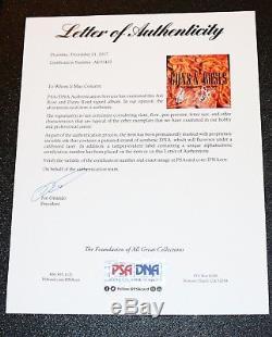 Axl Rose Dizzy Signed Guns N Roses The Spaghetti Incident Vinyl PSA Autograph