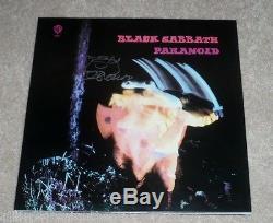 BLACK SABBATH SINGER OZZY OSBOURNE SIGNED PARANOID ALBUM VINYL COVER LP WithCOA