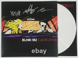 BLINK 182 BAND SIGNED CALIFORNIA LP VINYL ALBUM WithJSA CERT MARK HOPPUS
