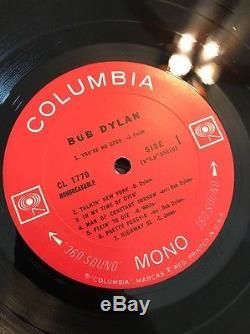 BOB DYLAN Self Lp SIGNED Vinyl Record Album Mono CL 1779