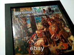 BOLT THROWER The IVth Crusade 1st press FULLY SIGNED ORIGINAL LINEUP