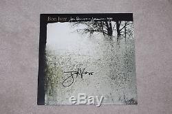 BON IVER SIGNED FOR EMMA, FOREVER AGO RECORD ALBUM VINYL LP JUSTIN VERNON withCOA