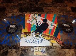 Back To The Future RARE Signed Mondo Movie Vinyl Soundtrack Record Michael J Fox