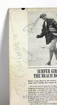 Beach Boys (6) Brian, Dennis, Al, Carl (2) & Mike Signed Album Cover W Vinyl BAS