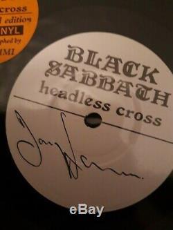 Black Sabbath Headless Cross. 7 Vinyl Single. Signed by Tony Iommi