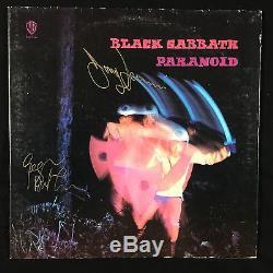 Black Sabbath Paranoid Signed Autograph Record Album JSA Vinyl