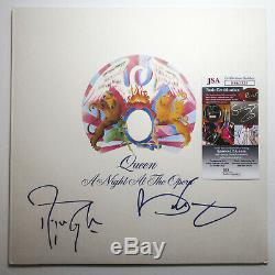 Brian May & Roger Taylor Signed QUEEN'Night At The Opera' Vinyl EXACT Proof JSA
