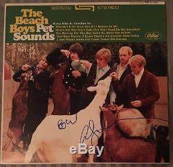 Brian Wilson & Al Jardine Signed Beach Boys Pet Sounds Album with Vinyl PSA/DNA