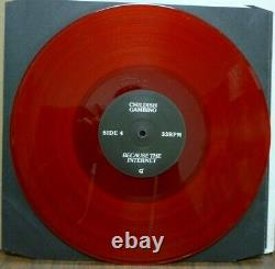 CHILDISH GAMBINO Because The Internet 2-LP SIGNED Red Vinyl NUMBERED 41/800 NICE