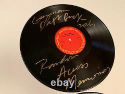 DAFT PUNK signed VINYL Rare RANDOM ACCESS MEMORIES Thomas Guy Grammy 2014 Record