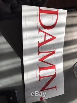 DAMN. 2 LP by Kendrick Lamar, AUTOGRAPHED, Red Vinyl
