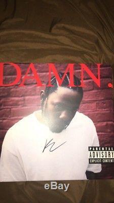 DAMN. Kendrick Lamar autographed Vinyl