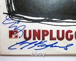 Dave Grohl Pat Smear Krist +3 Signed Nirvana MTV Unplugged WHITE Vinyl JSA