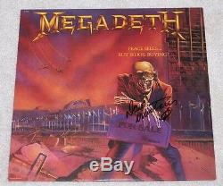 Dave Mustaine Signed Megadeth'peace Sells. But Who's Buying' Vinyl Album Coa