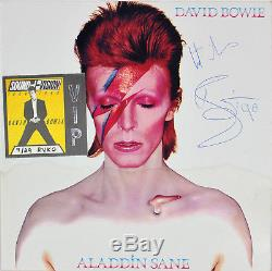 David Bowie Best Wishes Signed Aladdin Sane Album Cover With Vinyl BAS #A08831