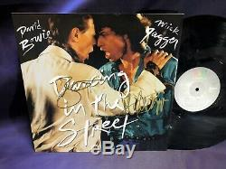 David Bowie & Mick Jagger Autographed Hand Signed' DITS' VINYL 12inch EP
