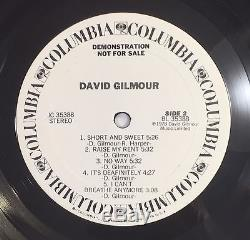 David Gilmour Pink Floyd Signed Autographed Solo Album Vinyl COA