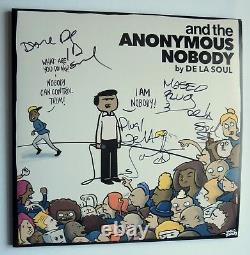 De La Soul band REAL hand SIGNED and the Anonymous Nobody 2x vinyl LP COA all 3
