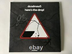 Deadmau5 Here's The Drop! Clear With Black Smoke Colored Autographed 2XLP Vinyl
