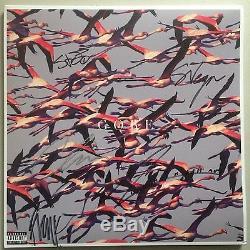 Deftones Gore Autographed 2xLP Ltd Ed 180g White Vinyl Record Fully Signed
