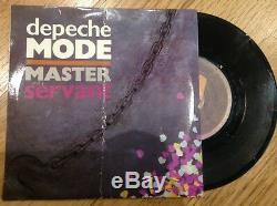 Depeche Mode SIGNED Master And Servant 7 LP Vinyl 80's Dave Gahan