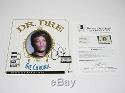 Dr. Dre Signed'the Chronic' Album Vinyl Record Lp Beckett Coa N. W. A Eminem 2001