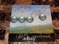 Dream Theater Rare FULL Band Signed Octavarium Vinyl LP Record Mike Portnoy COA