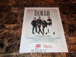 Duran Duran Rare Signed Paper Gods Vinyl LP Simon Le Bon John Taylor Nick Rhodes
