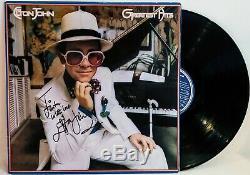 ELTON JOHN Signed Autograph LP Cover Greatest Hits Vinyl Record JSA LOA