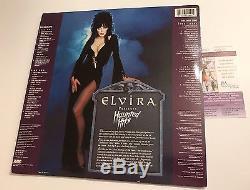 ELVIRA signed VINYL RECORD LP HAUNTED HITS Original 1988 MINT with POSTER JSA